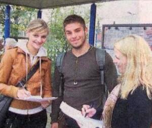 Schüler befragen zur anstehenden Bundestagswahl