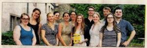Der Abiturjahrgang der Elisabeth-von-Rantzau-Schule hat die Gespräche mit Einwohnern des Michaelisviertels geführt und deren Erinnerungen zu Papier gebracht