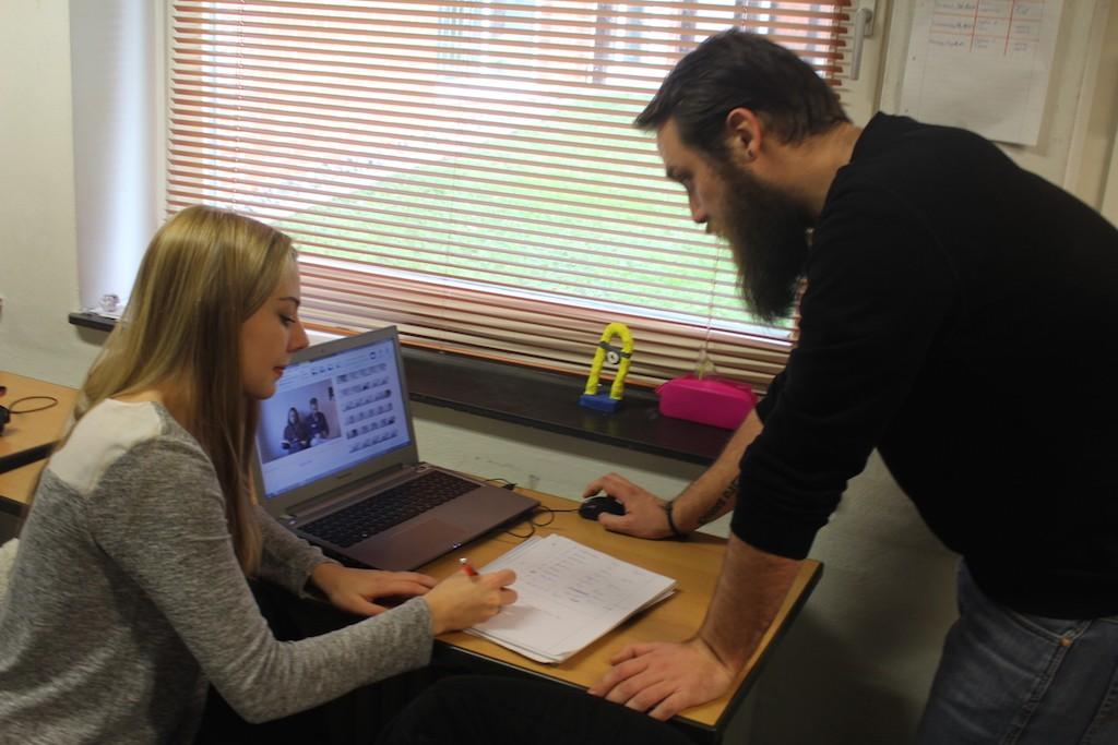 Leonie und André schneiden ihren Film