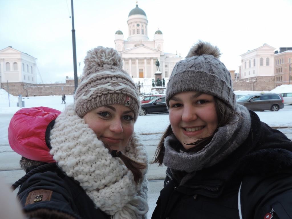 Sophie Schiedeck und Jana Salland in Helsinki
