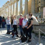 Aegina, Athen und Ausbildung